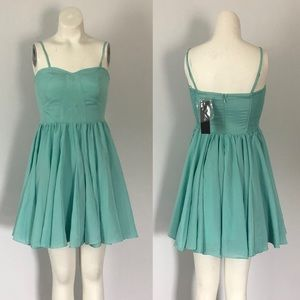 NWT Ark & Co turquoise strapless dress (S)